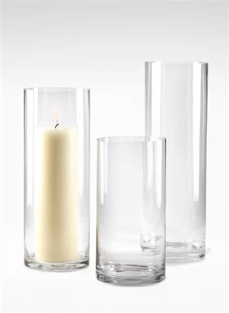 Cylinder Vases by 6x12 6x16 6x18 Inch Clear Glass Cylinder Vases