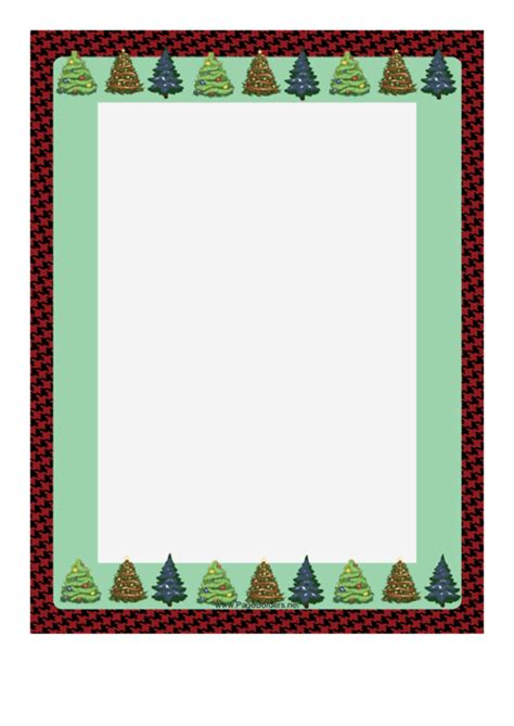 trees  houndstooth christmas page border template