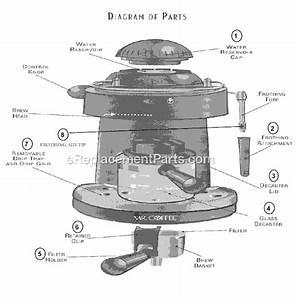 Mr  Coffee Ecm150 Parts List And Diagram