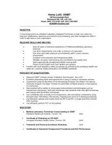 Laboratory Resume Objective by Sle Resume For High School Student Internship Exle Resume Objectives For Customer Service