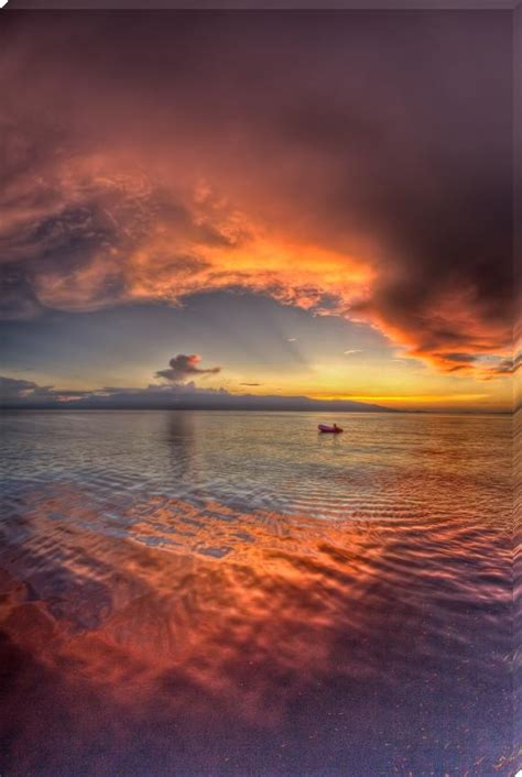 vertical reflective sunset - Sunset Prints by paulcowell ...