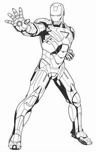 Iron Man Ready Ultimate Weapon Coloring Page Coloring