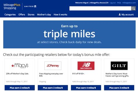 united mileageplus shopping portal acumular millas mike