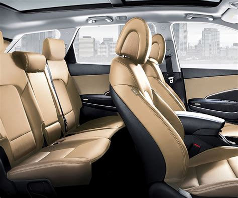 interior photo  spacious hyundai santa fe xl  suv