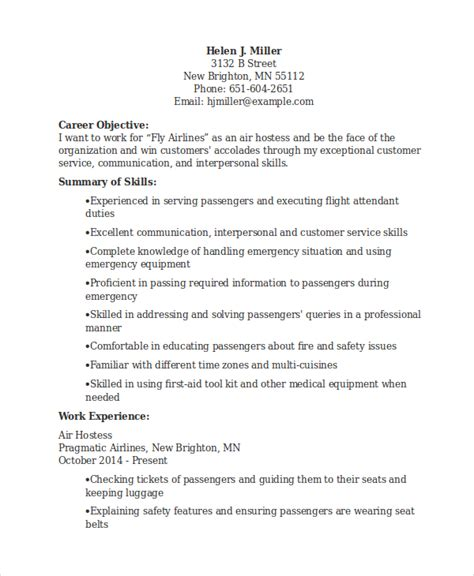 Hostess Resume Sle by Air Resume Template 28 Images Curriculum Vitae Air