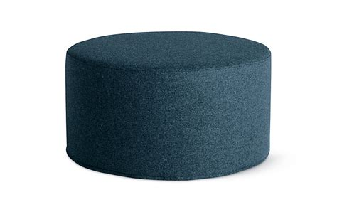 drum pouf wide design within reach