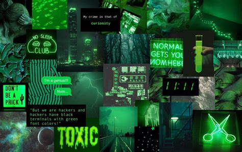 green laptop collage wallpapers