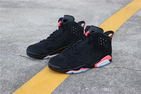 quality  black infrared vi bred men basketball shoes