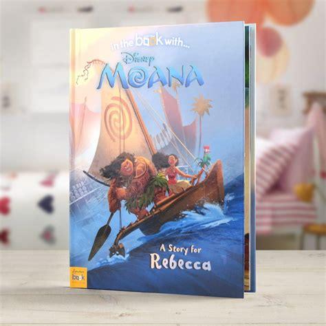 personalised disney moana softback book love  gifts