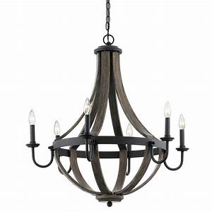Kichler merlot in light distressed black and