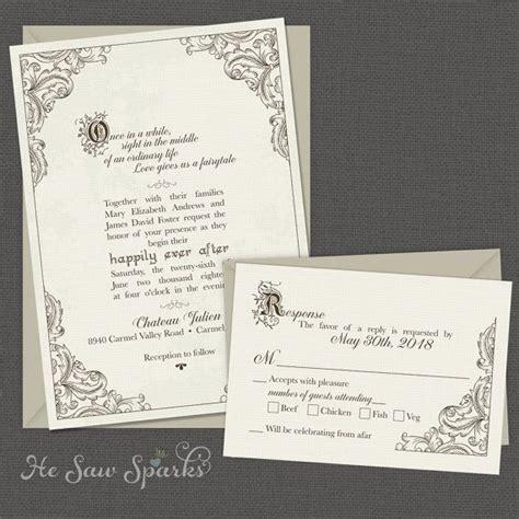 ideas  fairytale wedding invitations