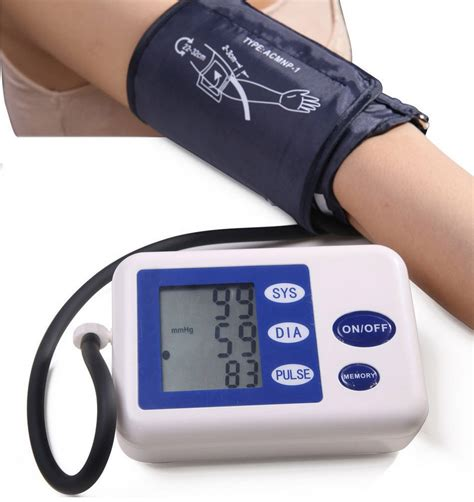 Automatic Digital Arm Cuff Blood Pressure and Pulse
