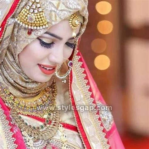 latest bridal hijab styles dresses designs collection