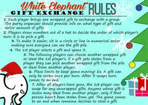 white elephant gift exchange tips and free printables invitations rules hip2save