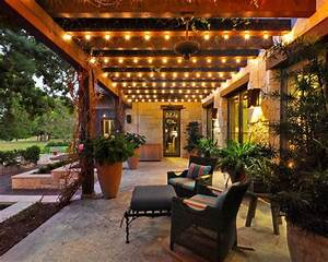 pergola string lights set a mood in your backyard