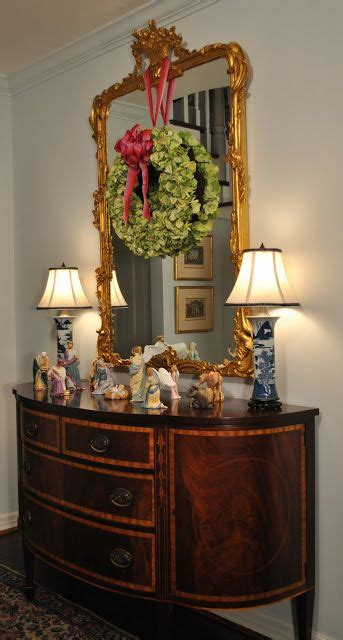 wreath  mirror ideas  pinterest mirror