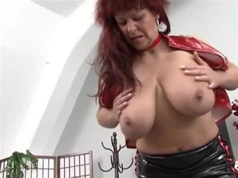 Sexy German Mature Redhead Shows Her Huge Tits Porn D6