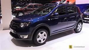 Dacia Sandero Steepway : 2016 dacia sandero stepway exterior and interior walkaround 2016 geneva motor show youtube ~ Medecine-chirurgie-esthetiques.com Avis de Voitures