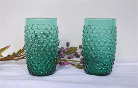 turquoise blue glass ls 1930s turquoise hobnail from vintassentials on etsy retro