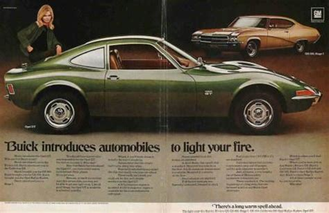 Buick Opel Gt For Sale by Magazine Ad 1969 Buick Opel Gt Gs 400 Stage 1 For Sale