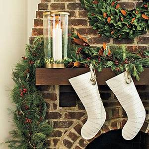 Dressed Up Christmas Mantels