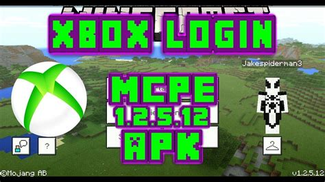 login to xbox account with mcpe 1 2 5 12 apk licence