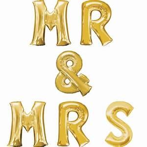 Mr Mrs Deko Buchstaben : buchstaben girlande folienballons mr mrs freie farbauswahl xxl ~ Markanthonyermac.com Haus und Dekorationen