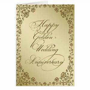 golden wedding anniversary greeting card zazzle With images of golden wedding anniversary cards