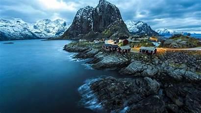 Norway Nature Sea Wallpapers Landscape Winter Reine