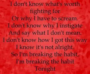 Breaking The Ha... Linkin Park Short Quotes