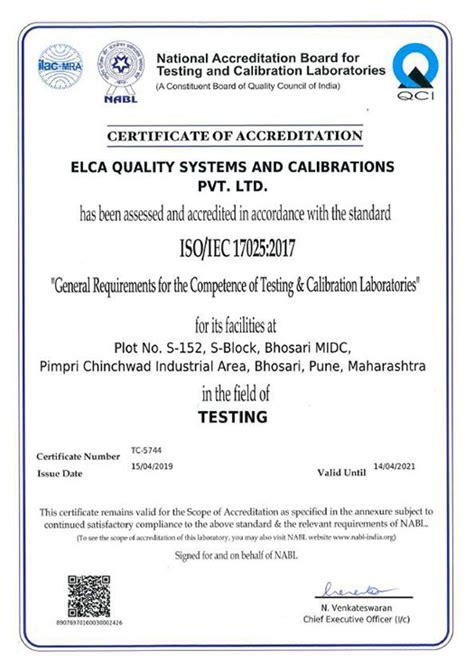 elca laboratories leading iso   nabl accredited