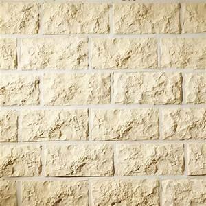 Brique De Parement Brico Depot : plaquette pierre taill e cr me brico d p t ~ Carolinahurricanesstore.com Idées de Décoration