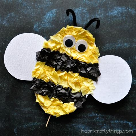 tissue paper ladybug craft with free pattern printable 854 | Bee Kids Craft 3