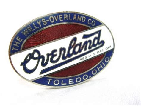 willys overland logo small willys overland co authentic oval radiator emblem 1
