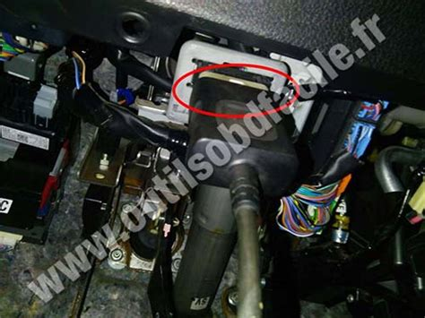 obd connector location  subaru forester sh