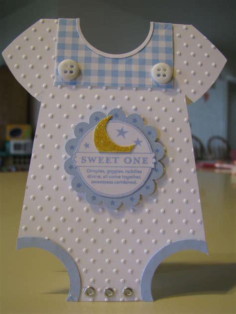 baby boy onesie card  sandoval  splitcoaststampers