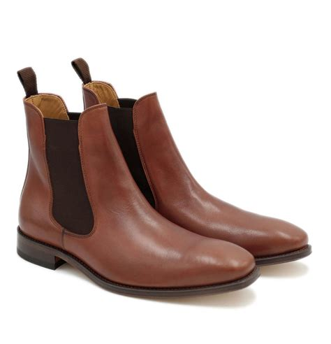Maybe you would like to learn more about one of these? Chelsea boots homme cuir marron cognac fabriqué main ...