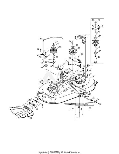 mtd wss lt   parts diagram  mower