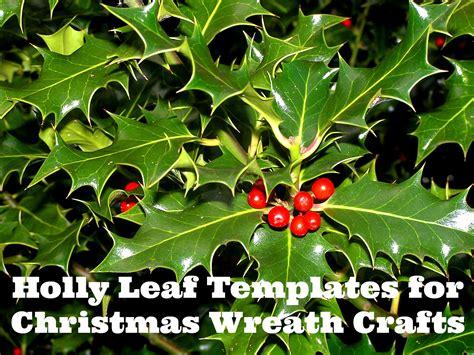printable wreath templates holly leaf stencils