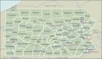 PA Zip Code Map of Pennsylvania Counties