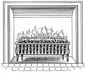 Fireplace, Clipart, Black, And, White, Fireplace, Clip, Art, Images