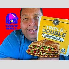 Taco Bell® Spicy Triple Double Crunchwrap Review! Youtube