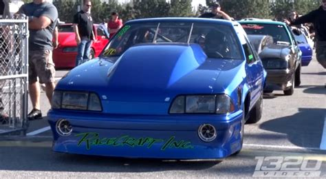 fueltech race cars lights out 7 turbo radial fox mustang drag racing cars