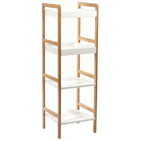 caisson cuisine pas cher etagère 4 plateaux bambou meuble de rangement ac deco