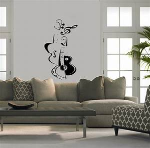 wall vinyl sticker decals art mural violin and guitar With modern wall decals