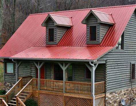 Graues Haus Rotes Dach by Metal Roofs Photo Gallery Metal Roofing For Residential