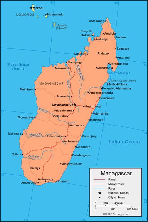map  madagascar planetologcom