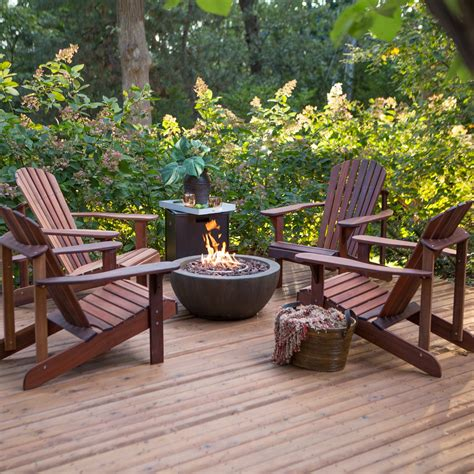 adirondack table and chairs belham living richmond deluxe adirondack fire pit chat set