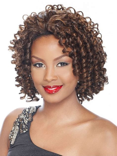spiral curl synthetic  wig