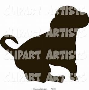 Dark Brown Hound Dog Silhouette Clipart By Pauloribau